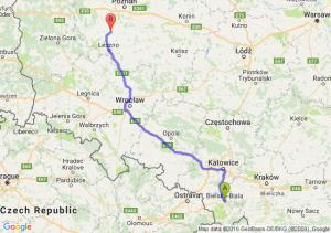 Bielsko-Biała (śląskie) - Kościan (wielkopolskie)