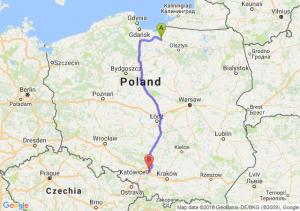 Trasa Pasłęk - Sosnowiec