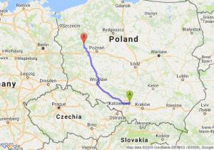 Trasa Sosnowiec - Sieraków