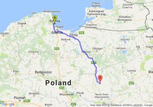 Trasa Gdynia - Ciechanów