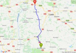 Trasa Modliborzyce - Kurów