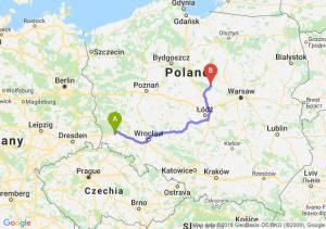Trasa Bolesławiec - Płock