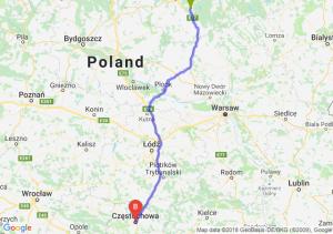 Trasa Olsztynek - Częstochowa