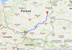 Trasa Wodzisław Śląski - Siemiatycze