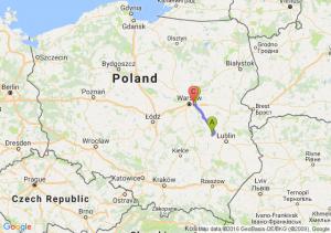 Puławy (lubelskie) - Zakręt (mazowieckie) - Miedzylesie Warszawa
