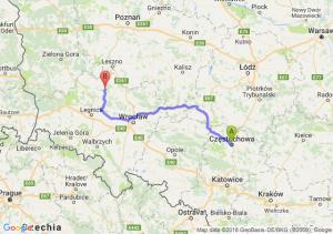 Trasa Częstochowa - Chobienia