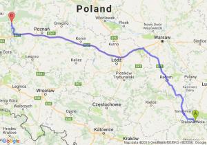 Nisko (podkarpackie) - Międzychód (wielkopolskie)