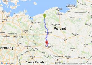 Barwice (zachodniopomorskie) - Brzeg Dolny (dolnośląskie)