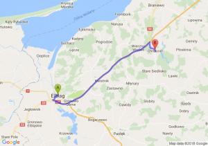 Trasa Elbląg - Chruściel