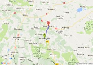 Trasa Wałbrzych - Świebodzice