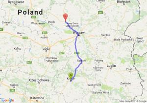 Trasa Kielce - Płońsk