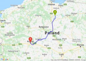 Trasa Kwidzyn - Poznań