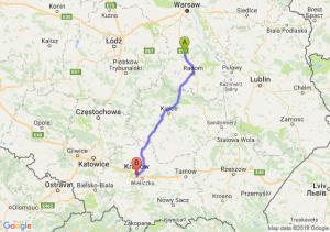Trasa Białobrzegi - Łagiewniki