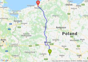 Trasa Piaski - Koszalin
