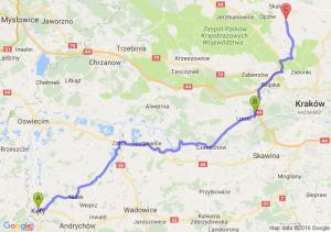 Kęty (małopolskie) - Kryspinów (małopolskie) - Cianowice Duże (małopolskie)