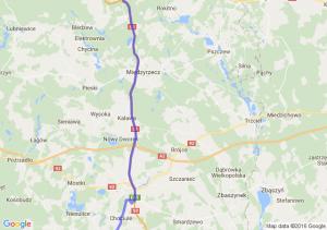 Bytów (pomorskie) - Szczecinek (zachodniopomorskie)międzychód - Krosno Odrzańskie (lubuskie)