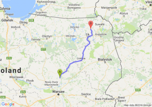 Pułtusk (mazowieckie) - Olecko (warmińsko-mazurskie)