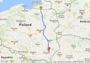 Korsze (warmińsko-mazurskie) - Leżajsk (podkarpackie)