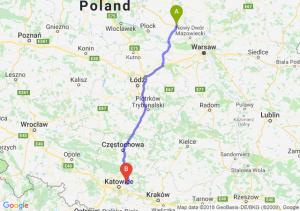 Trasa Płońsk - Dąbrowa Górnicza