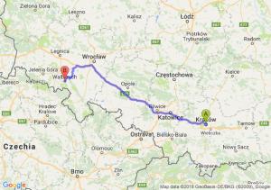 Trasa Kraków - Wałbrzych