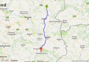 Trasa Ciechanowiec - Stalowa Wola