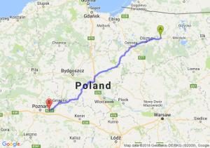 Trasa Biskupiec - Kostrzyn