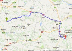 Gostyń (wielkopolskie) - Sulejów (łódzkie)