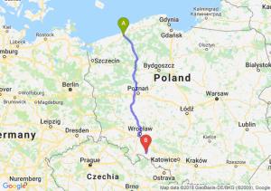 Trasa Koszalin - Nysa