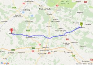 Tarnogród (lubelskie) - Mielec (podkarpackie)