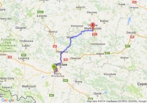 Trasa Biskupice Podgórne - Ostrów Wielkopolski