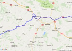 Łęczna (lubelskie) - Opole Lubelskie (lubelskie)