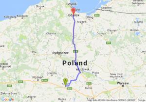 Konin (wielkopolskie) - Pruszcz Gdański (pomorskie)