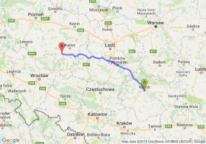 Trasa Kielce - Ostrów Wielkopolski