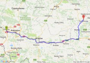 Gliwice (śląskie) - Tarnobrzeg (podkarpackie)