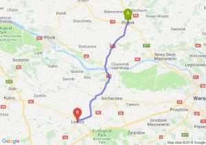 Trasa Płońsk - Łowicz