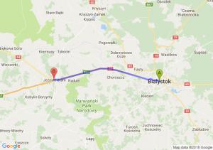 Trasa Białystok - Jeżewo Stare