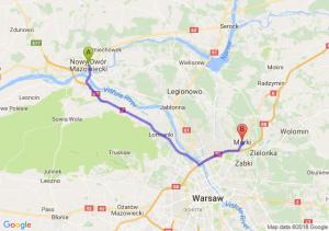 Trasa Nowy Dwór Mazowiecki - Marki