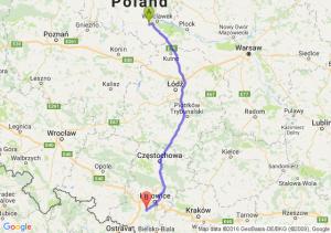 Brześć Kujawski (kujawsko-pomorskie) - Łaziska Górne (śląskie)