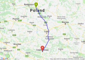 Trasa Toruń - Częstochowa