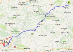 Puławy (lubelskie) - Łaziska Górne (śląskie)