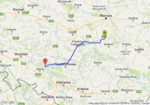 Trasa Białobrzegi - Bierdzany