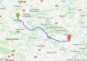 Trasa Bełchatów - Opatów