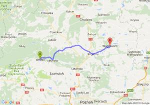 Trasa Wronki - Wągrowiec
