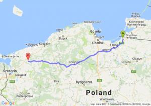 Braniewo (warmińsko-mazurskie) - Resko (zachodniopomorskie)