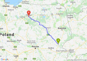 Trasa Siemiatycze - Olsztyn