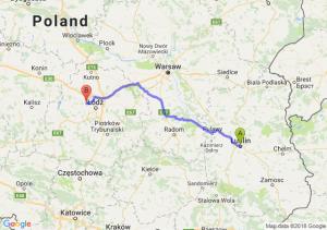Trasa Lublin - Aleksandrów Łódzki