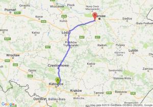 Trasa Sosnowiec - Pruszków