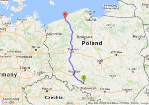 Trasa Dąbrówka Górna - Koszalin
