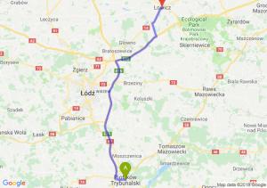 Trasa Piotrków Trybunalski - Łowicz
