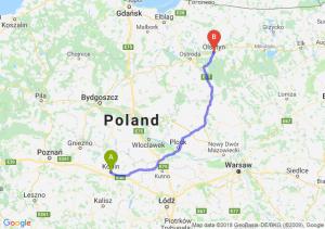 Trasa Konin - Olsztyn